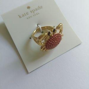 Kate spade crab ring size 5